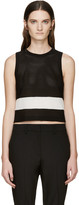 Rag & Bone Black and White Knit Valerie Tank Top