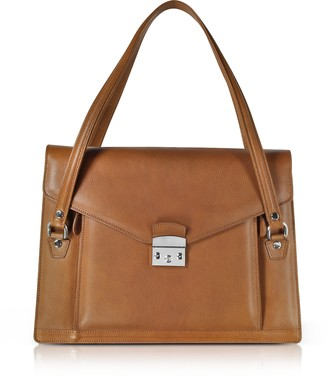 L.a.p.a. Double Compartment Calf Leather Women's Briefcase