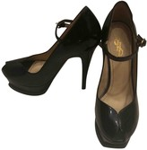 Saint Laurent Black Patent leather Sandals