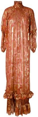 À La Garçonne Silk Lurex Jacquard Dress