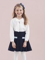 Oscar de la Renta Wool 2 Pocket Fit And Flare Skirt