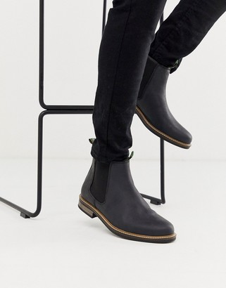 Barbour Farsley leather chelsea boots in black