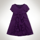 Ruffled Cotton Cascade Dress