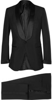 Tom Ford Black Slim-Fit Mohair and Wool-Blend Tuxedo