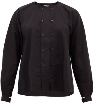 Toogood The Chef Buttoned Cotton-poplin Blouse - Black
