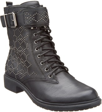 Vince Camuto Leather Lace-up Mid Boots - Tanowie
