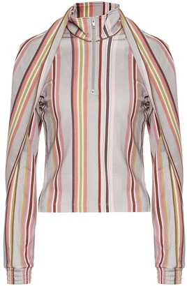 Y/Project Asymmetric striped blouse