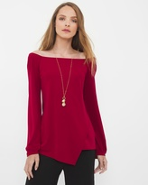 White House Black Market Off-The-Shoulder Top