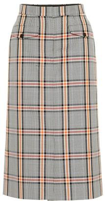 Dries Van Noten Checked cotton-blend skirt