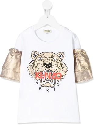 Kenzo metallic sleeve T-shirt
