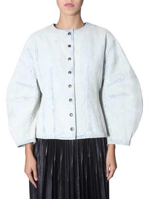 Givenchy Balloon Sleeved Button-Up Denim Jacket
