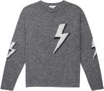Rails Virgo Bolted Cashmere Blend Pullover - small | merino wool | grey - Grey/Grey