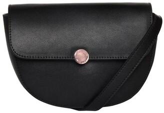 Mocha Brianna Leather Belt Bag - Black