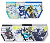 Star Wars Toddler Boys' 7 Pack Classic Briefs