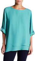 Chaus Asymmetrical Double-Layer Blouse