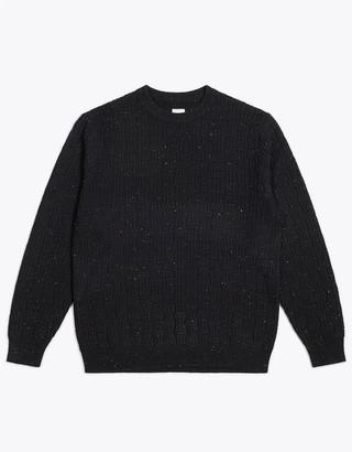 Wemoto Black Daire Knit Crewneck Pullover - S | black - Black/Black