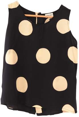 Hanae Mori Black Silk Top for Women Vintage