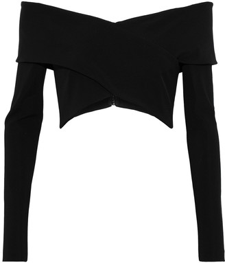 Cushnie Issa Off-the-shoulder Cropped Stretch-crepe Top