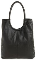Topshop Premium Leather Oversized Top Handle Tote - Black