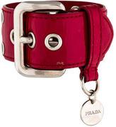 Prada Leather Grommet Bracelet