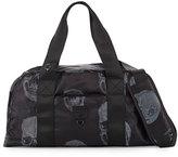 Terez Crystal Skull Gym Duffle Bag, Black/Silver
