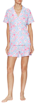 Midnight by Carole Hochman Floral Notch Top Pajama