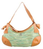 M Missoni Leather-Trimmed Hobo
