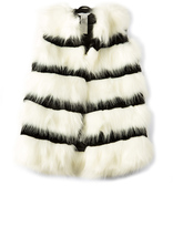 Marc Jacobs Faux Fur Stripe Vest