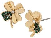 Betsey Johnson Lucky Charms Four Leaf Clover Stud Earrings