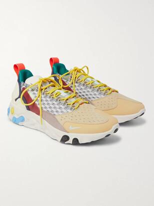 Nike React Sertu Leather, Suede And Grosgrain Sneakers