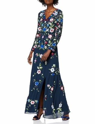 Frock and Frill Women's Julieta Embellished Long Sleeve Maxi Dress Party