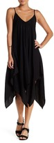 Blvd Double V Asymmetrical Solid Dress
