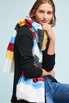 Anthropologie Preppy Striped Scarf