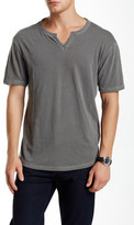 Lucky Brand Split Neck Short Sleeve Tee