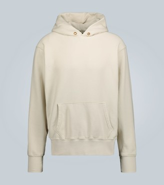 LES TIEN Cropped hooded sweatshirt