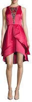Shoshanna Embellished Tiered High Low Dress