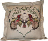 Houseology Timorous Beasties Ruskin Single Lovebirds Cushion On Linen