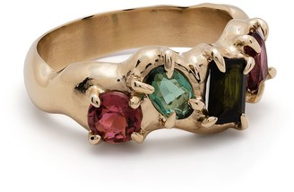SUSANNAH KING 9kt yellow gold tourmaline Vita ring