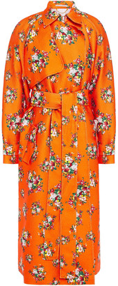 Emilia Wickstead Yves Floral-print Cloque Trench Coat