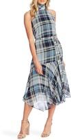 Vince Camuto Plaid Elements Sleeveless Mock Neck Dress
