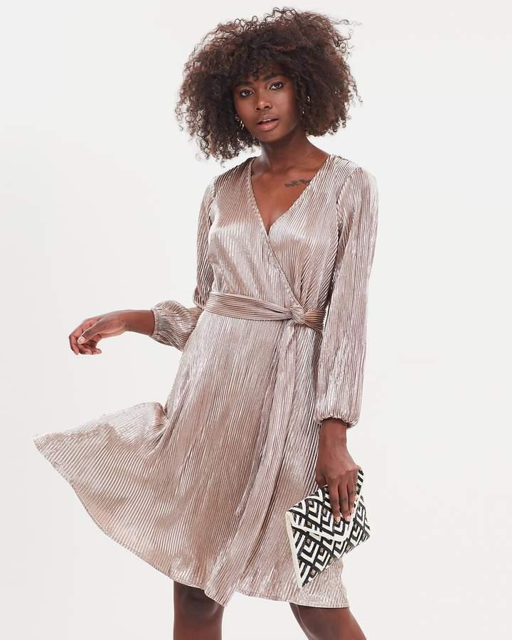Dandie Sparkle Wrap Dress