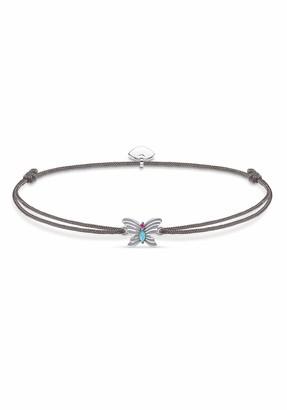 Thomas Sabo Little Secrets Bracelet Butterfly 925 Sterling Silver/Nylon Grey