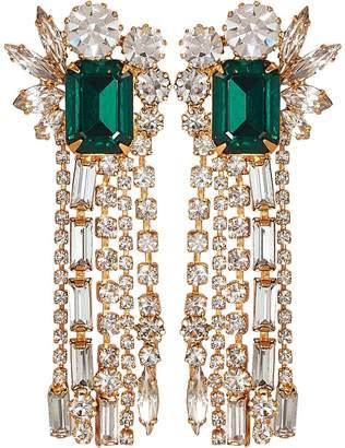 Elizabeth Cole Leigh Crystal Fringe Earrings