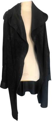Ann Demeulemeester Black Leather Coat for Women Vintage