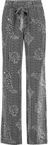 Joie Nurrin printed silk wide-leg pants