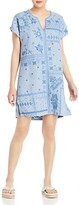 Thumbnail for your product : Johnny Was Nico Linen Printed Tunic Dress
