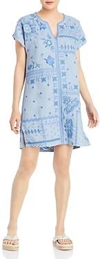 Johnny Was Nico Linen Printed Tunic Dress