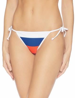 Volcom Women's Stripe Search Tie Side Bikini Bottom