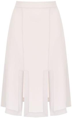 Gloria Coelho midi skirt with front slits