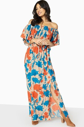 Girls On Film Faithful Off The Shoulder Maxi Dress